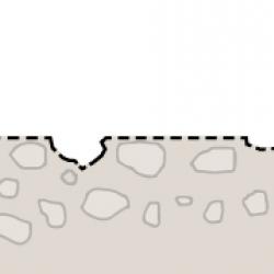 Sichtbeton in Travertin Optik