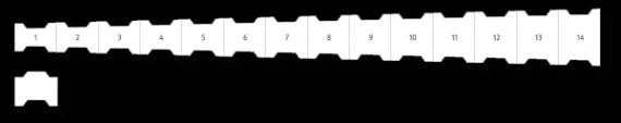 H-Beton Kurvenkeil Zeichnung