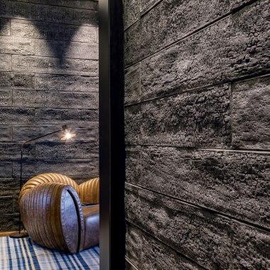 Wandfliese SHOU SUGI BAN aus Architekurbeton von GODELMANN