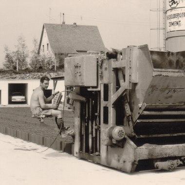 Altes Bild Unternehmen GODELMANN Betonherstellung